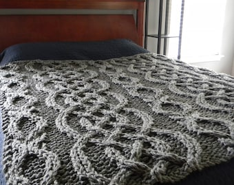 """The """"All Tied Up"""" knit blanket"""