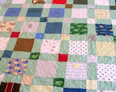"""Onesie Quilt, Homemade Quilt, Handmade Quilt, King Size 98"""" x 102"""" (248cm x 259cm) (60 to 70 clothing items) - DEPOSIT LISTING (50%)"""