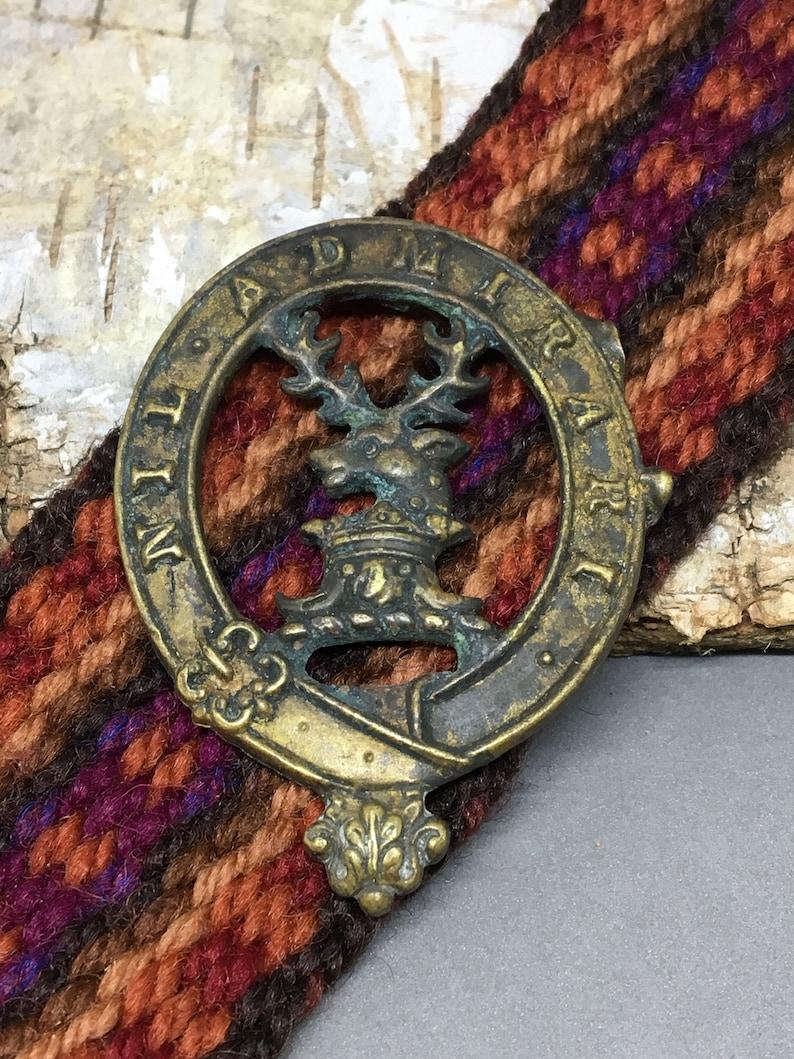 Badge or Buckle Vintage Brass or Bronze Scottish Clan Pin Nil Admirari