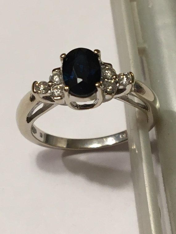 Genuine sapphire, diamonds, ring, vintage, Septemb