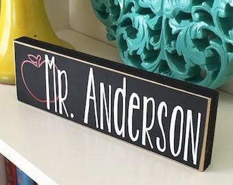 Personalized Teacher Desk Name Plate - Teacher gift