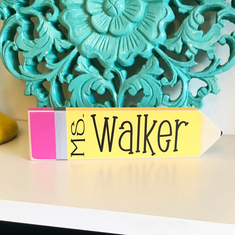 Personalized Teacher Gifts Desk Name Plate  Personalized image 0