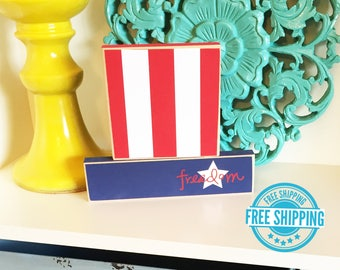 Uncle Sam Hat- Fourth of July Decor, Independence Day, Americana, Fourth of July Blocks, Stars and Stripes, Patriotic Decor, Patriotic Sign
