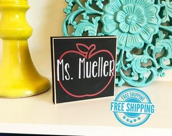 Personalized Teacher Gift- Teacher gift, Personalized Teacher Name Plate, Personalized Teacher Sign, Classroom Sign, Gift for Teacher