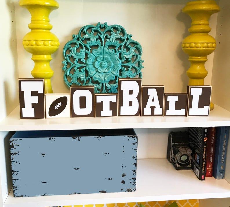 Football Blocks Decor Decoration Man Cave