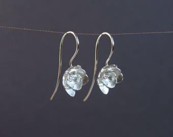Silver Blossom Earrings | Ladies Flower Earrings | Flower Dangle Earrings | Wedding Jewelry | Flower Girl Jewelry | Handmade in Silver