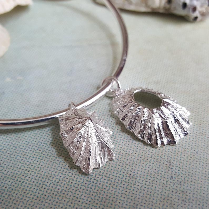Seaside Jewellery Beach Bracelet Silver Shell Bangle
