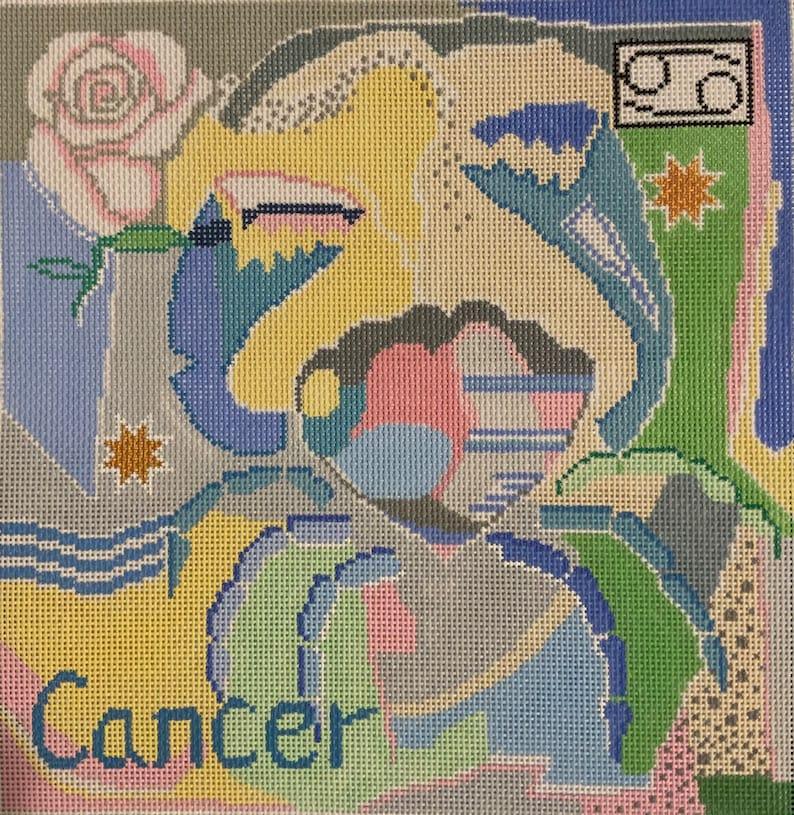 Cancer Zodiac Needlepoint Canvas