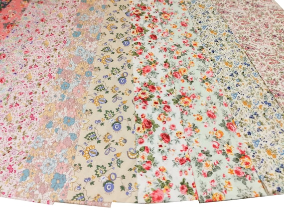 """Scrumptious Quilt 20 strips 2.5x44/"""" Jelly Roll Retro Floral Rose Tropical Flower"""