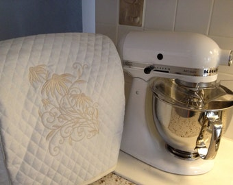 Quilted Embroidered Kitchen Aid Artisan Stand Mixer Cover (Tilt Head Style)