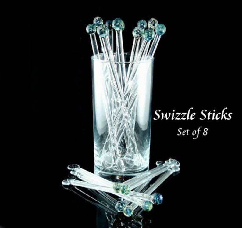 Swizzle Sticks Glass Drink Stirrer  Coffee Stirrer  Glass image 0