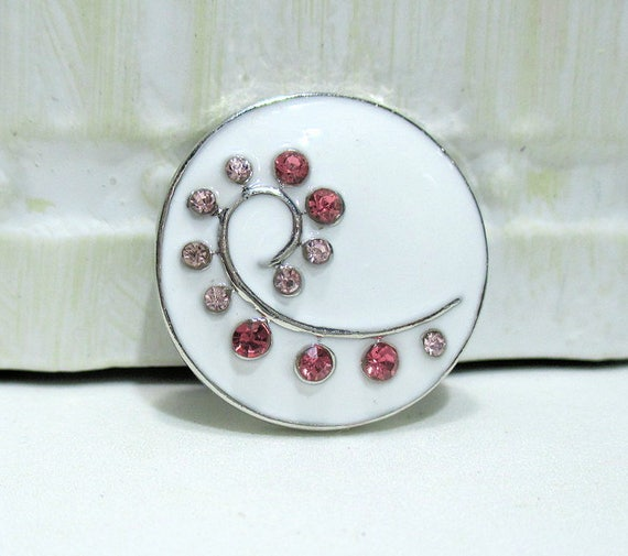 /'-Snap.Chunk Button Antique Like White Set Charm For Ginger Snap Style Jewelry