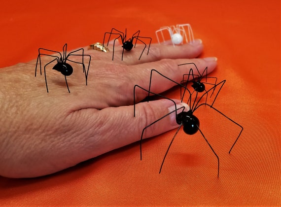 Faux Black Widow Spider Variety Pack Extra Large Black Widow Etsy