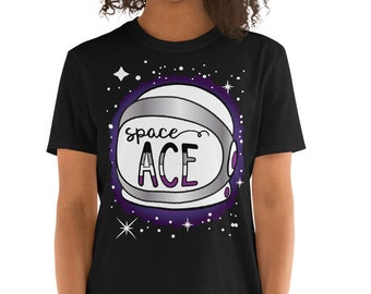 Space Ace Pride Short-Sleeve Unisex T-Shirt - Asexual Pride Shirt - LGBTQ Tee