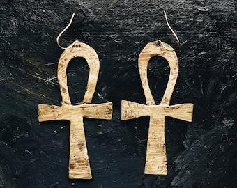 LIFE ankh earrings