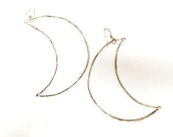 LUNAR crescent moon earrings