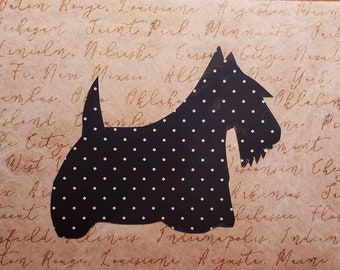 Set of 10 Quirky and Unique Handmade Scottish Terrier Blank Note Cards