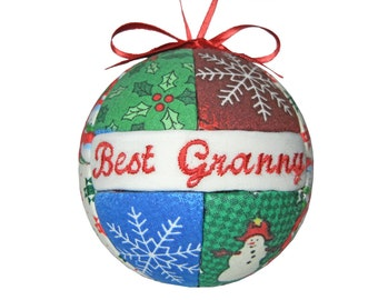 Best Granny Christmas Ornament, Grandparent Gift, Gift For Her, Gift Under 20, Tree Decoration, Home Decor, Birthday Gift, Mothers Day