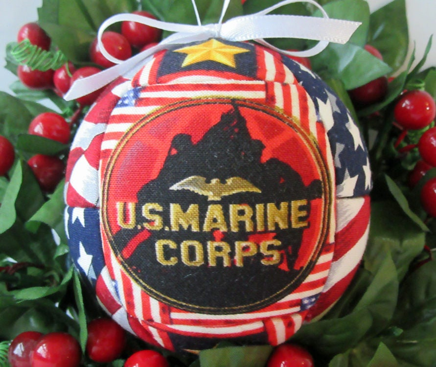 Marine Corp Christmas Ornament Patriotic Military Gift For