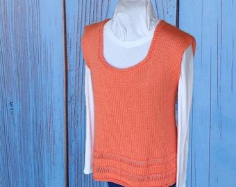 Knit Sweater Pattern, Sleeveless Knit Tunic Pattern, Knitting Pattern for Sweater, Knit Tank Top Pattern, Knitted Vest