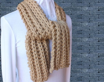 Knit Cowl Pattern With Button Chunky Yarn Scarf Patterns Etsy