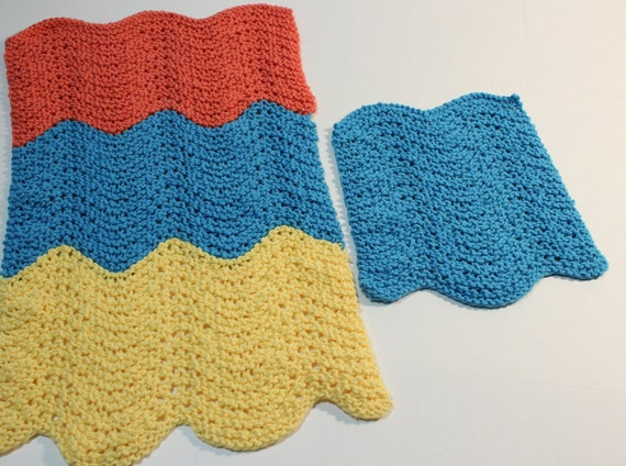 Knit Patterns For Dishcloths Knitted Dish Towel Pattern Etsy