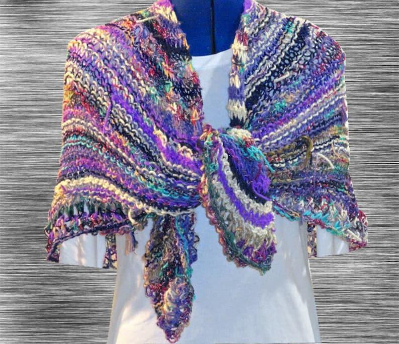 Knit Shawl Pattern Easy Knitting Pattern Easy to Knit ...