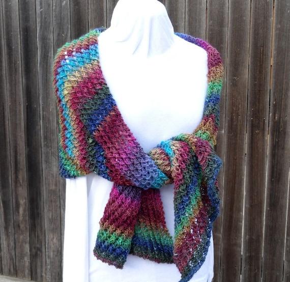 Knit Shawl Pattern Knitting Pattern For Bias Knit Wrap Etsy