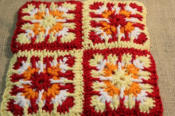 Crochet Patterns For Potholders Crochet Potholder Pattern Etsy