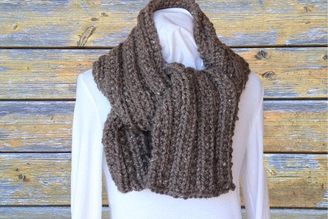 Chunky Knit Scarf Pattern Knitting Pattern For Chunky Scarf Etsy