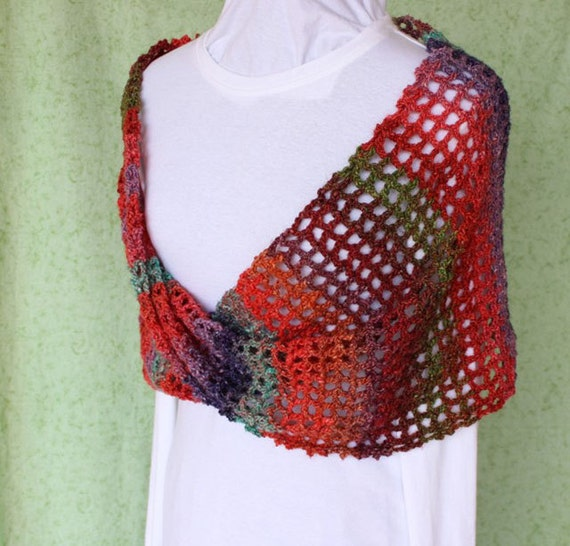 Crocheted Wrap Pattern Crochet Cowl Pattern Trellis Crochet Etsy