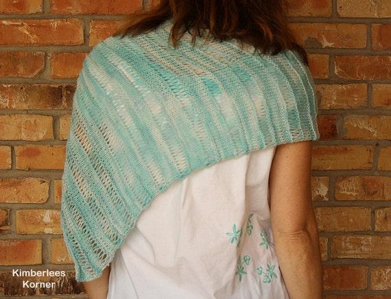 Knit Shawl Pattern Easy To Knit Pattern For Shawl Knitting Etsy