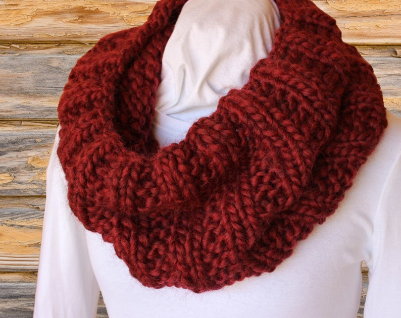 Chunky Knit Cowl Pattern Knitting Pattern For Bulky Yarn Etsy