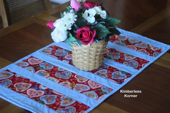 Sewing Pattern For Quilted Table Runner Quilt As You Go Etsy