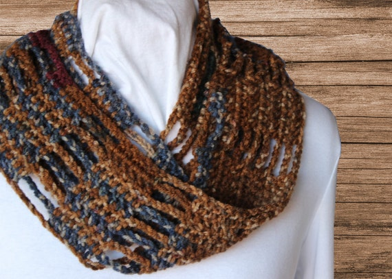 Crochet Cowl Pattern Easy To Crochet Scarf Pattern Bars And Etsy