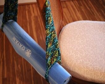 Yoga Mat Carrier Pattern, Crochet Pattern for Yoga Strap, Crochet Pattern for Cotton Yoga Mat Bag, Exercise Strap Pattern