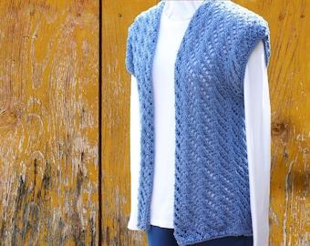 Knit Sweater Pattern, Knitted Vest Pattern, Knitting Pattern for Vest, Knitting Patterns for Sweaters, Lace Knit Vest Design, Lace Knitting