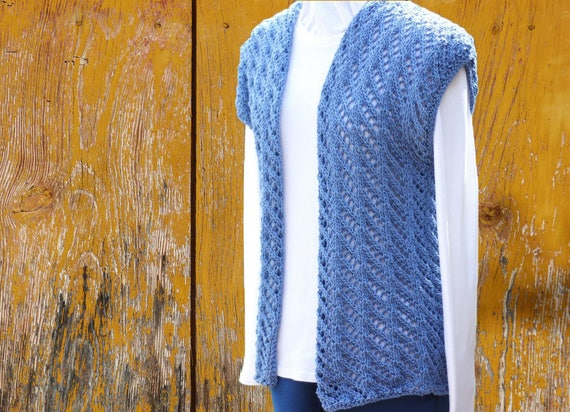 Knit Sweater Pattern Knitted Vest Pattern Knitting Pattern Etsy