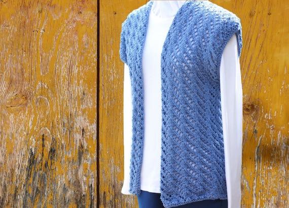 Knit Sweater Pattern Knitted Vest Pattern Knitting Pattern
