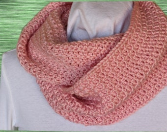 Easy Crochet Patterns for Cowls, Crocheted Cowl Pattern, Chunky Cowl Patterns, Textured Stitch Crocheted Cowl, Gift to Crochet