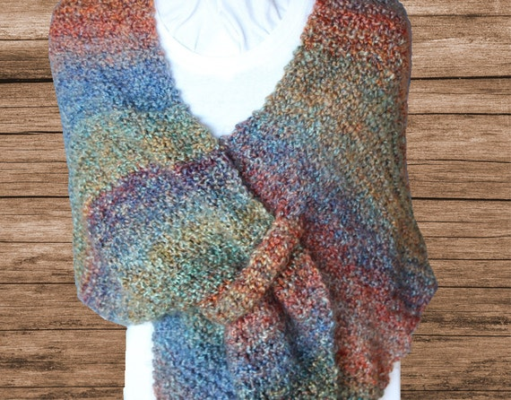 Knitting Pattern For Shawl Easy To Knit Shawl Pattern Prayer Etsy