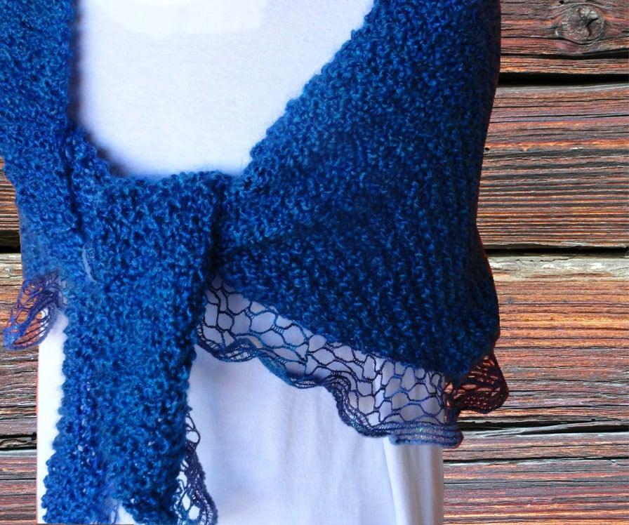 Knit Shawl Pattern, Pattern for Sashay Yarn, Easy to Knit Prayer ...