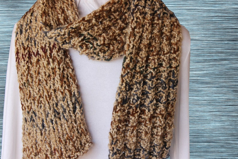 Chunky Knit Scarf Pattern Knitted Scarf Patterns Free Etsy