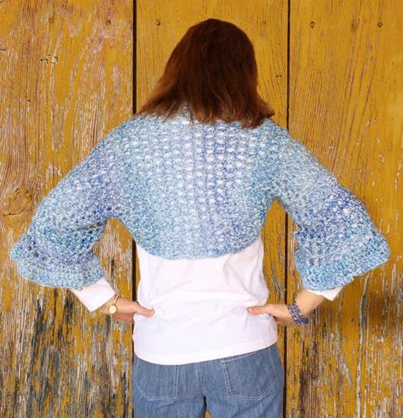 Crochet Shrug Pattern Flared Sleeve Shrug Pattern Easy Etsy