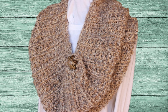 Knitting Pattern For Chunky Cowl Knitted Cape Design Easy To Etsy