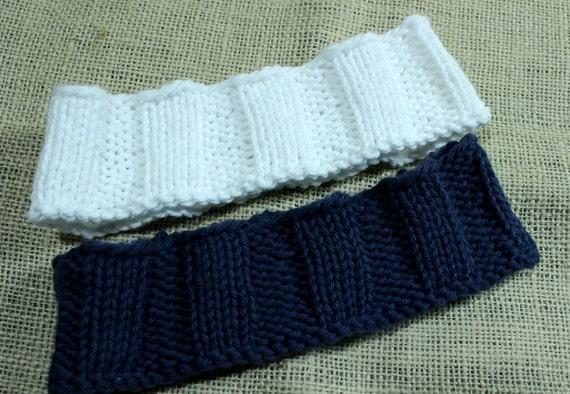 Knitting Pattern For Headband Wide Knit Headband Design Easy Etsy