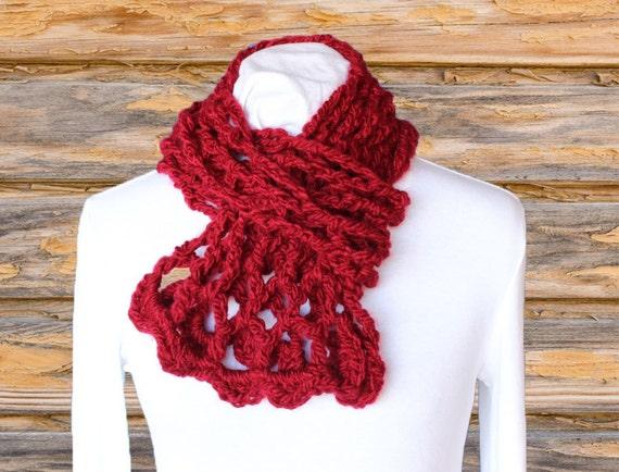 Easy To Crochet Scarf Pattern Trellis Crochet Cowl Pattern Etsy