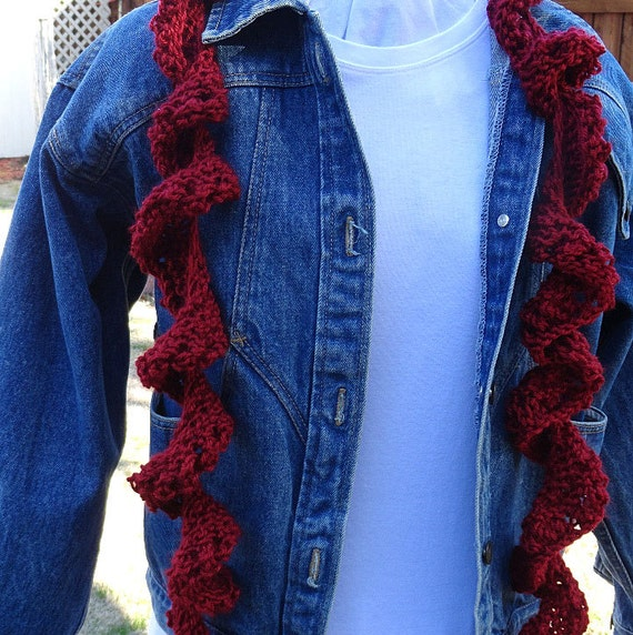 Knitting Pattern For Scarf Easy To Knit Spiral Scarf Pattern Etsy