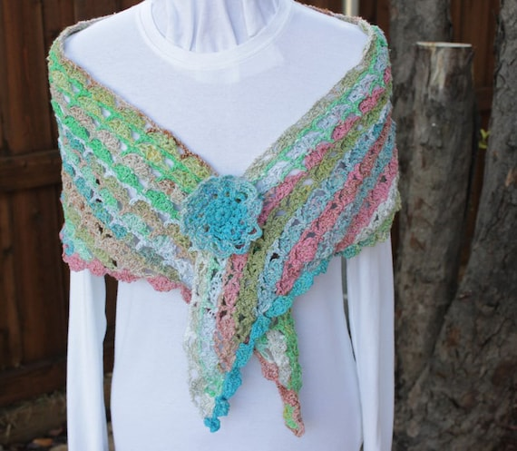 Crochet Wrap Pattern Lace Crochet Shawl Patterns Crocheted Etsy