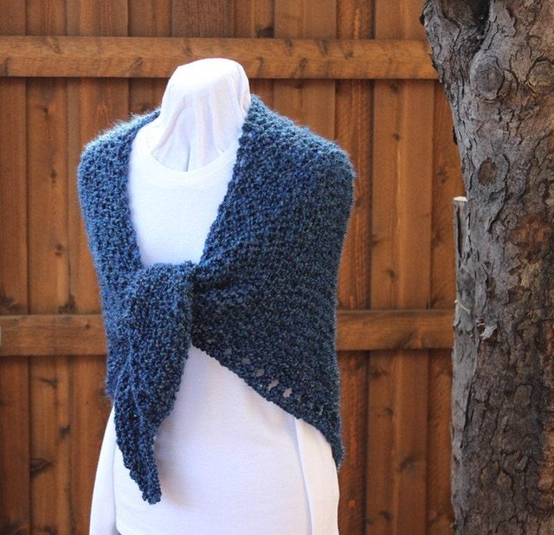 Knit Shawl Pattern Prayer Shawl Pattern using Homespun ...